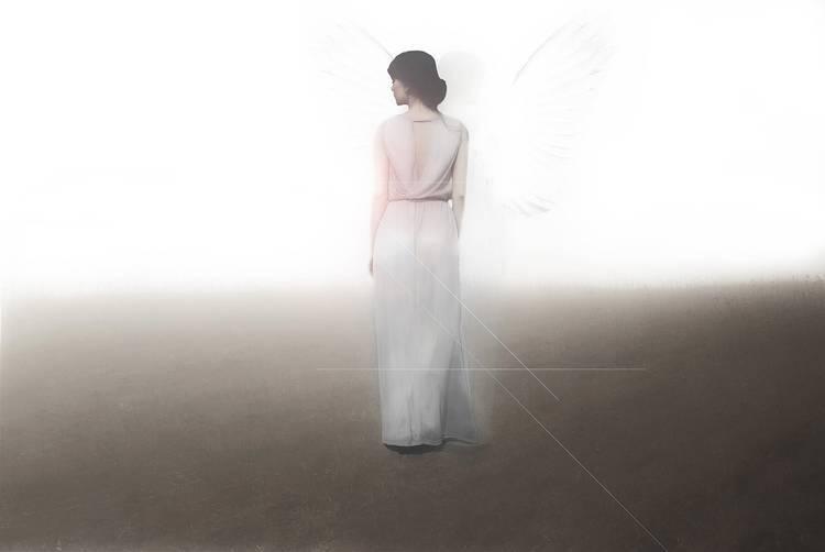 Woman in long white dress walking - Dream interpretation