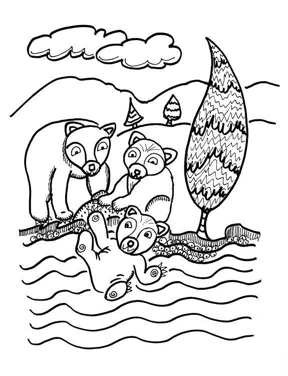 FUN COLORING PAGES 6 free pictures from The Way of the Bear for