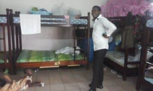 caregiver in children's bedroom