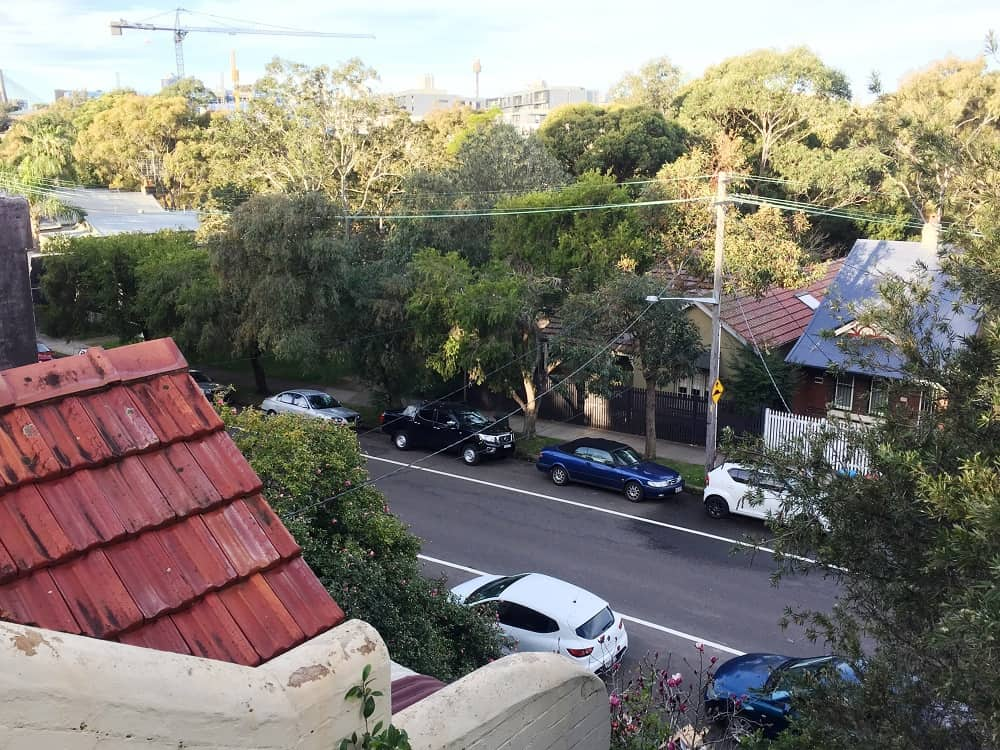 Balcony view from Sydney, Australia suburb - Going down under and coming back up