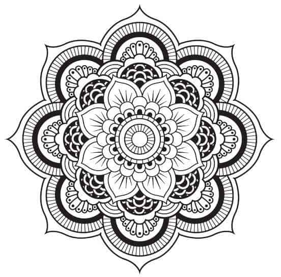 BOOST YOUR MOOD BY COLORING IN PICTURES 7 Free Pages From The Divine Flowers Mandala Coloring Book