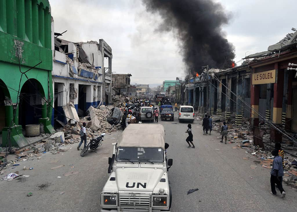 Street after 2010 earthquake in Port-au-Prince, Haiti