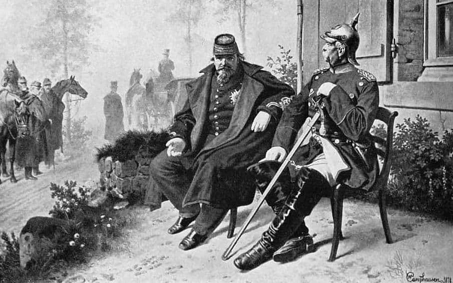 Otto von Bismarck and Napoleon III sit on chairs - Love and the world