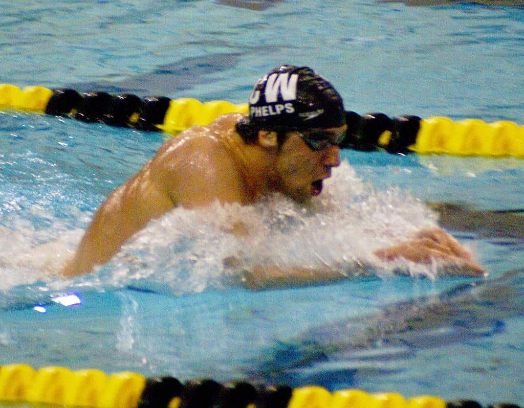 Swimmer Michael Phelps doing breaststroke - Different is good