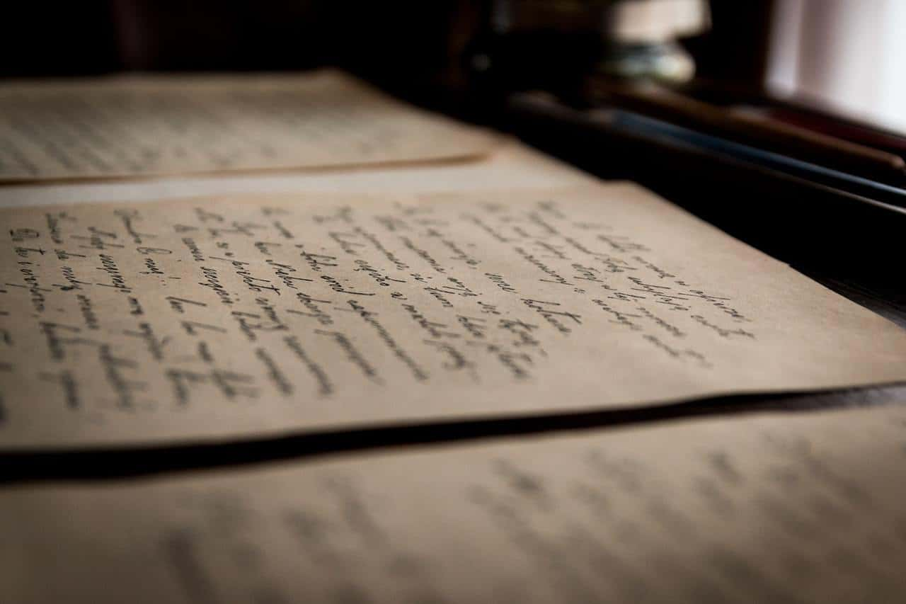 Handwritten letters in cursive - The stories we're living