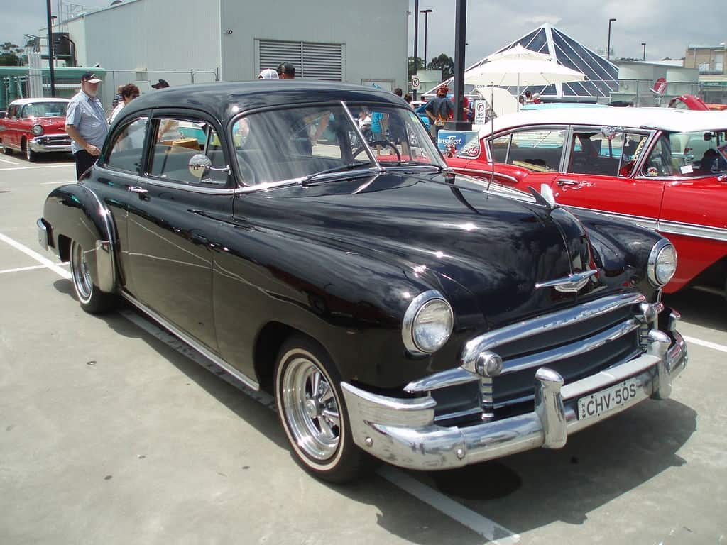 Black 1950 Chevy car - On turning 70