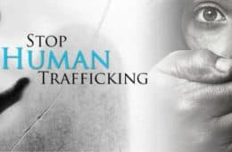 stop human trafficking sign