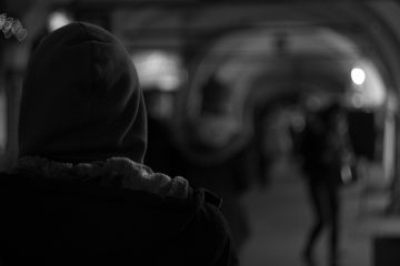 Blurry black and white photo featuring person in hoodie - About suicide