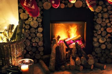 livingroom cozy fireplace