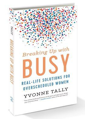Front cover of book - Breaking up with busy