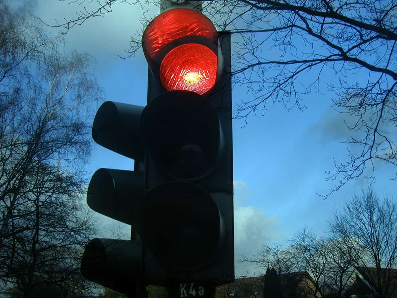 Red stoplight - Mindful driving