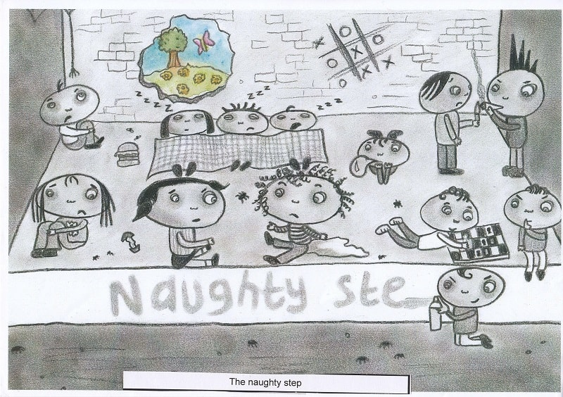 Group of so-called bad kids on naughty step - The naughty step (2)