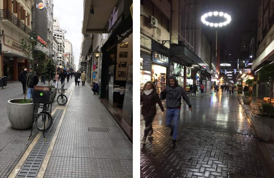 La Valle Rambla by day and by night - An American in Argentina