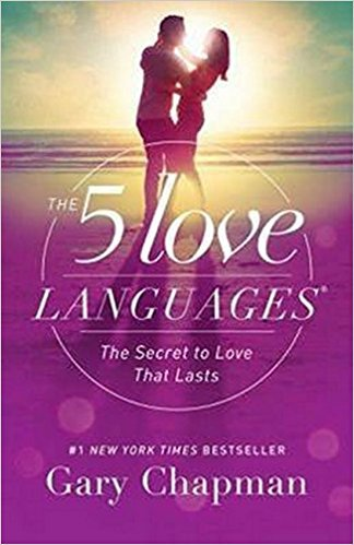 Front cover of book - The 5 love languages