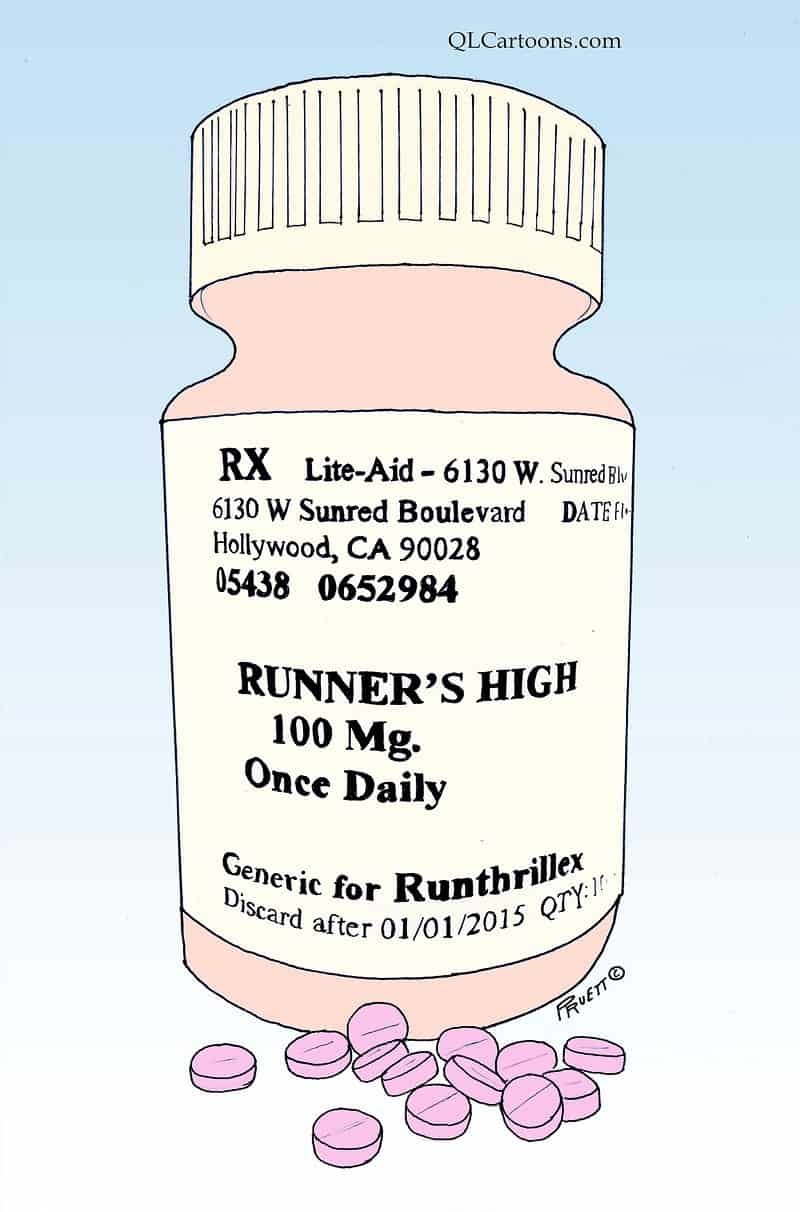 Bottle of pills that'll give you a runner's high - Runner's high without the work