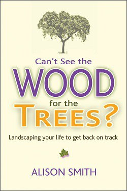 Front cover of book - Can't see the wood for the trees? Landscaping your life to get back on track