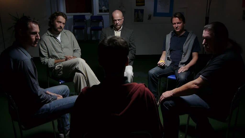 men in therapy circle