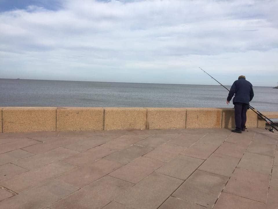 Fisherman on Rio de la Plata - A day in Montevideo