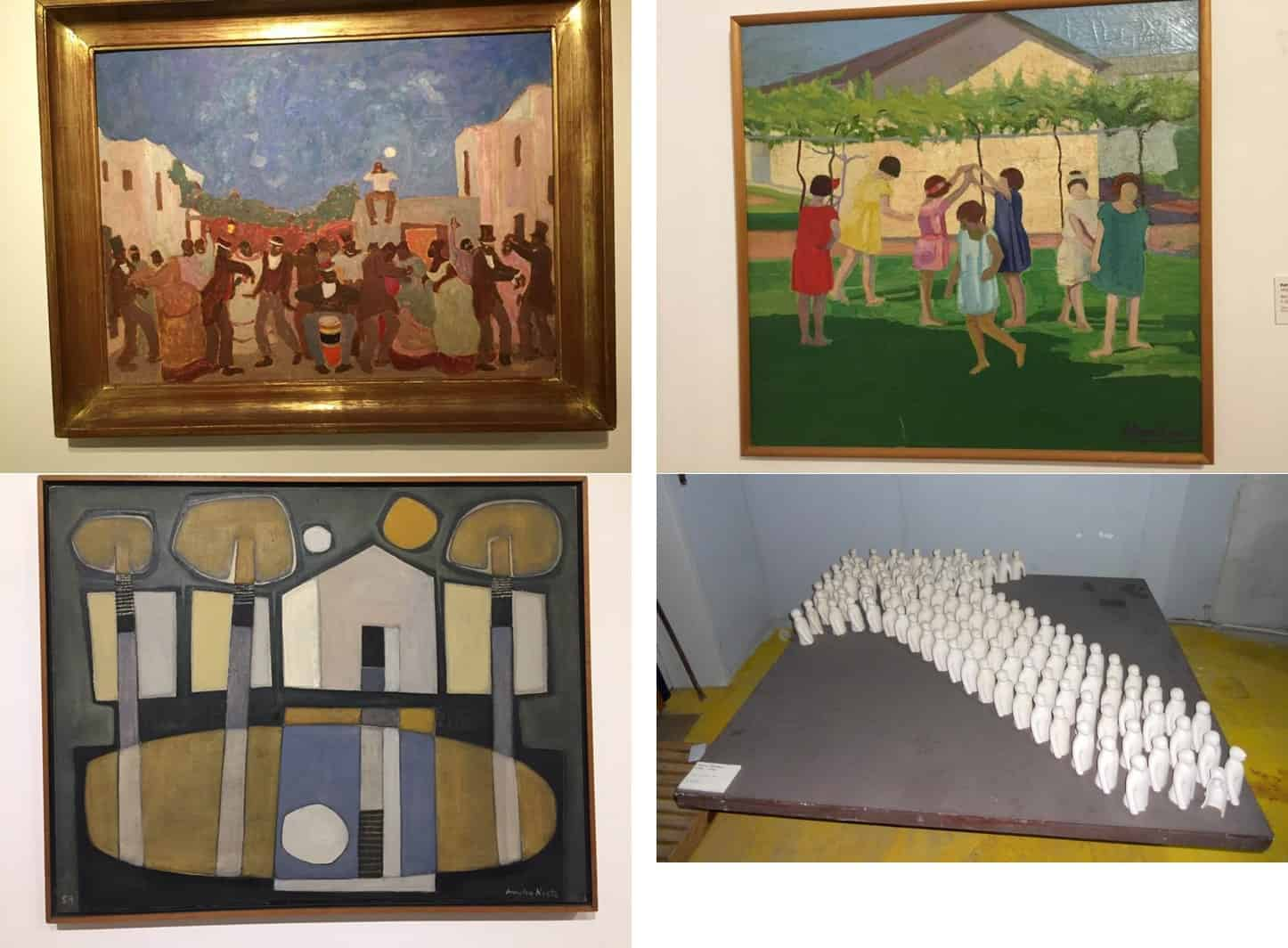 Four paintings in the Museo Nacional de Artes Visuales - A day in Montevideo