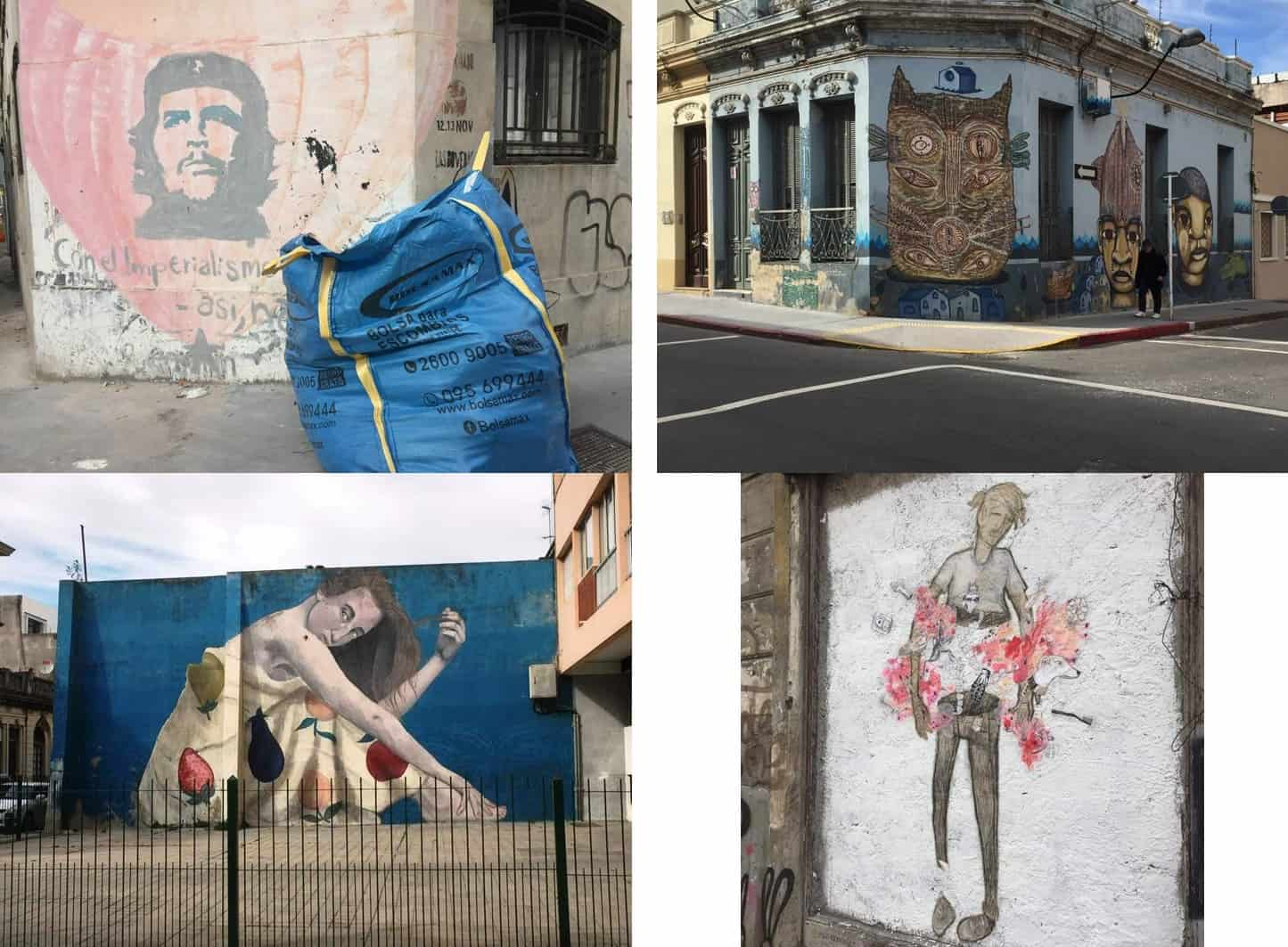 Four pictures of street art - A day in Montevideo