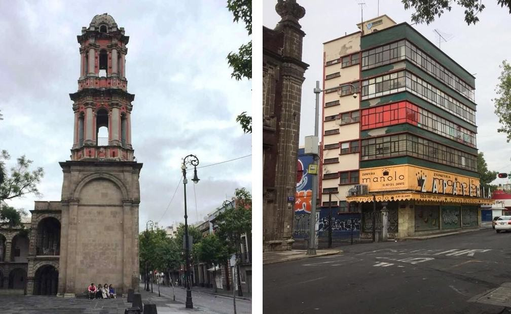 Old and new buildings in Mexico City - Further adventures in Mexico City