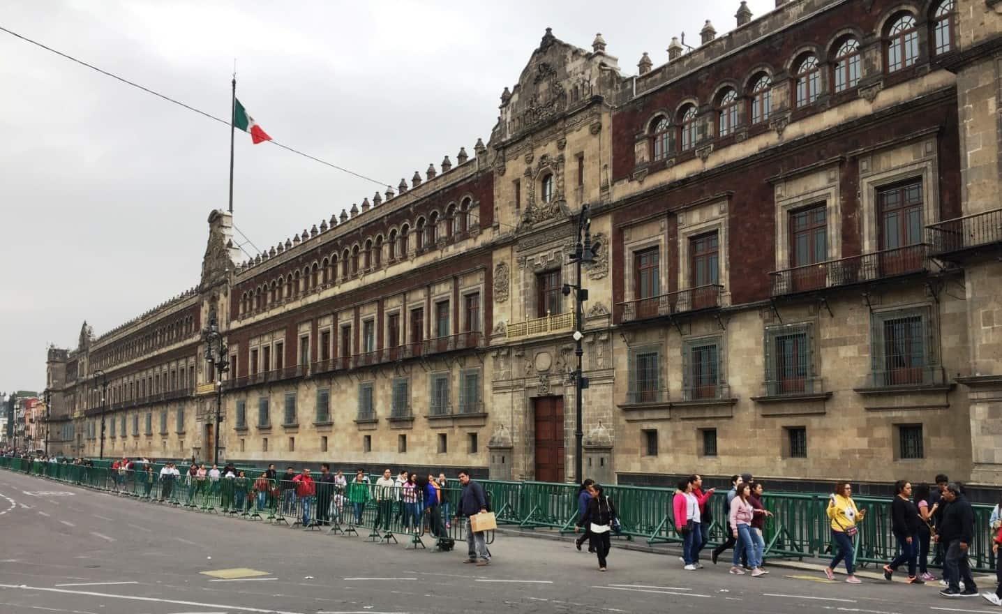 Palacio Nacional building - A very full first day in Mexico City