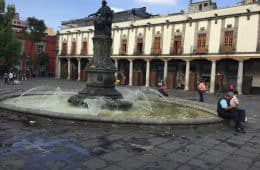 Plaza in the old part of Mexico City - Further adventures in Mexico City