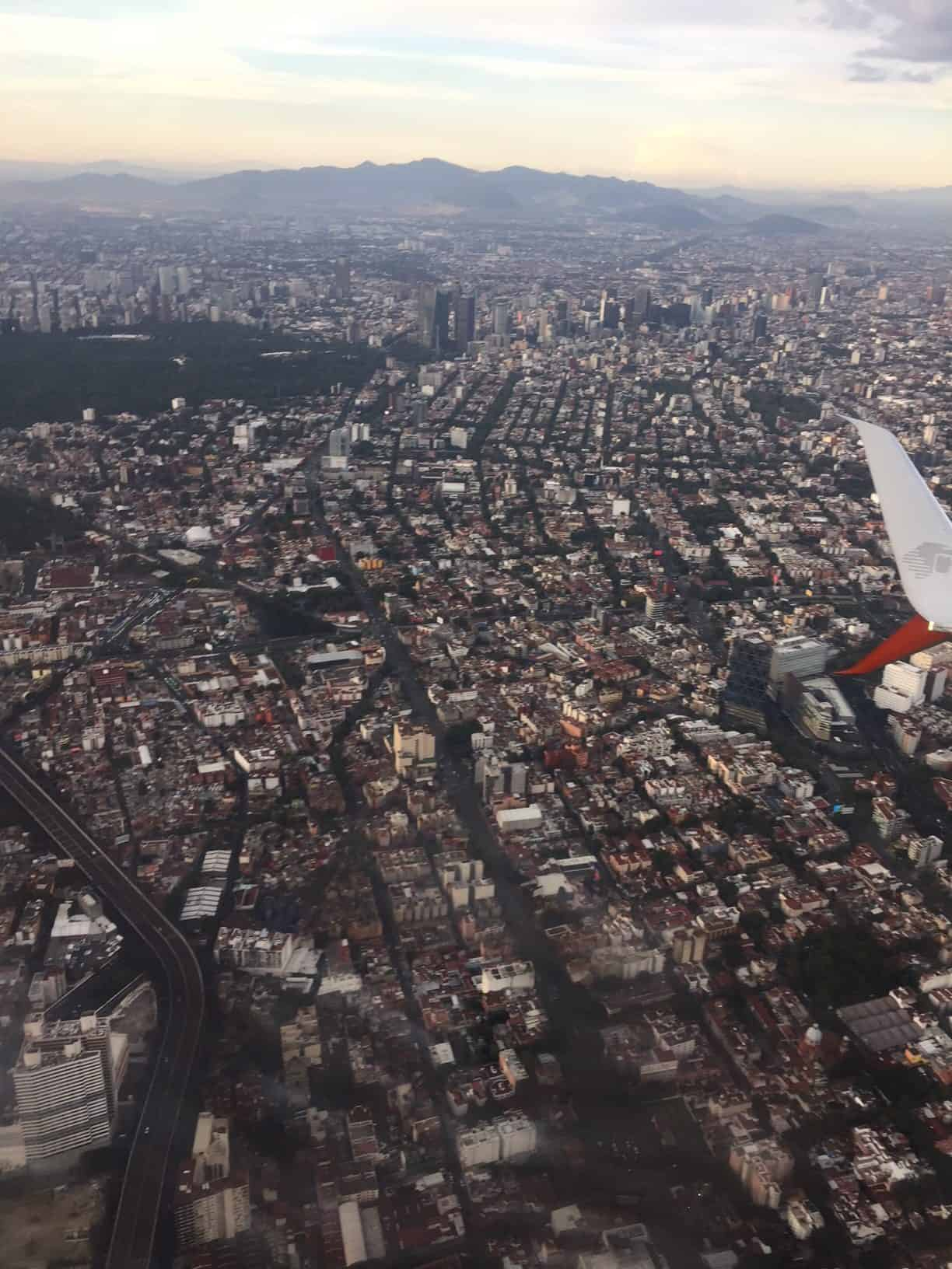 Seeing Mexico City from plane - Wonders of Oaxaca