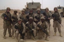 Troops going to war