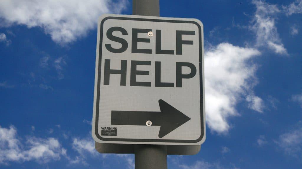 self help sign