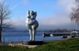 Statue of naked fat woman - Lake Constance