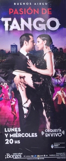 Advertisement for tango show - First (and last) tango in Buenos Aires