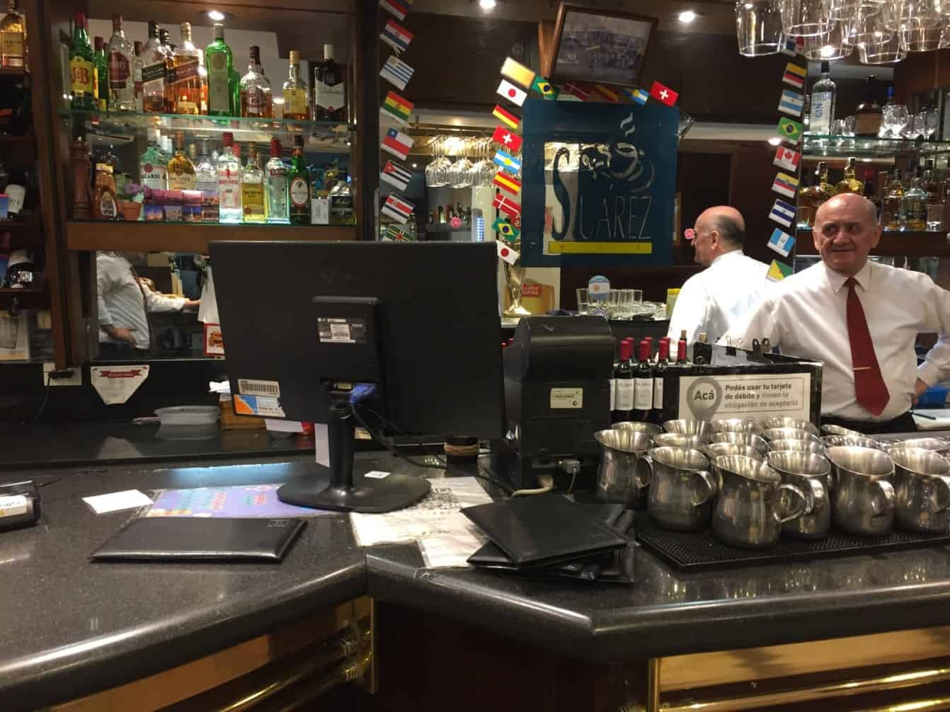 The bar at Suarez diner - An American in Argentina
