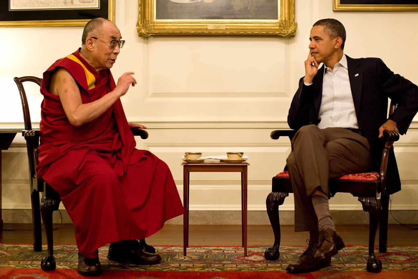 The Dalai Lama and Barack Obama converse - Identity politics