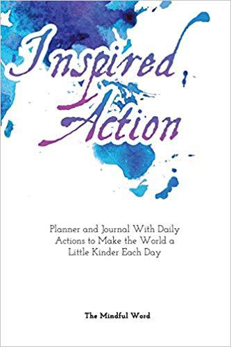 Front cover of book - Inspired Action Planner & Journal