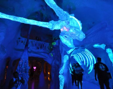 Visitors going through Meow Wolf exhibit in Santa Fe - Art reimagined
