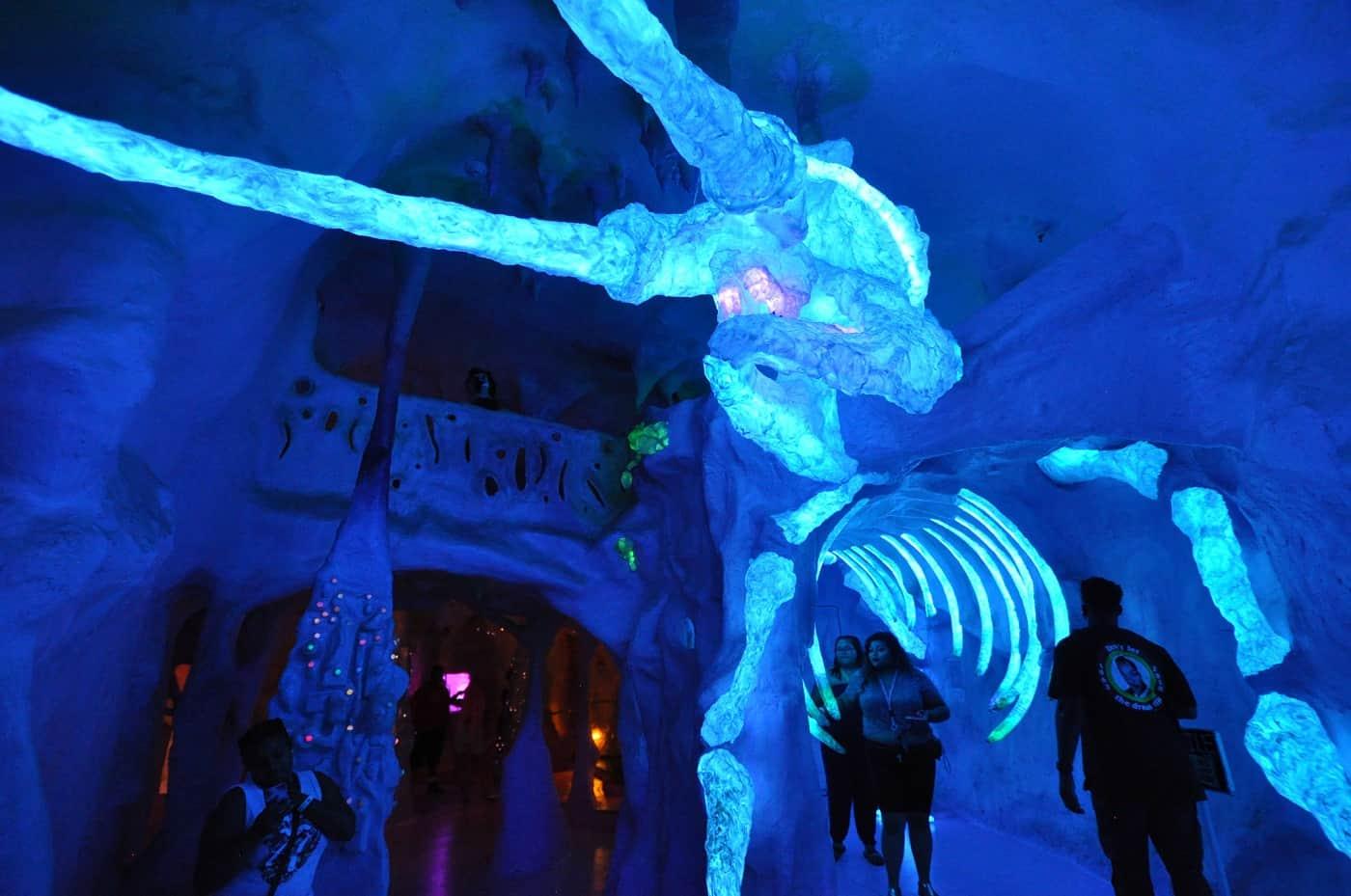 Visitors going through Meow Wolf exhibit in Santa Fe - Art reimagined