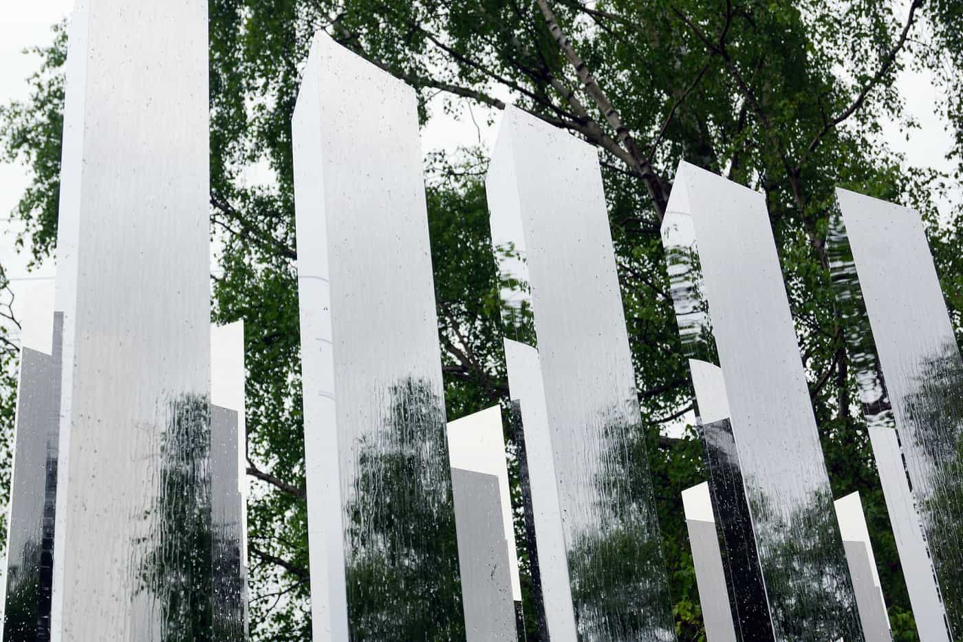 """Jeppe Hein's Path of Silence sculpture - """"Because it's there"""""""