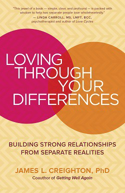 Front cover of Loving through Your Differences book - Family myths