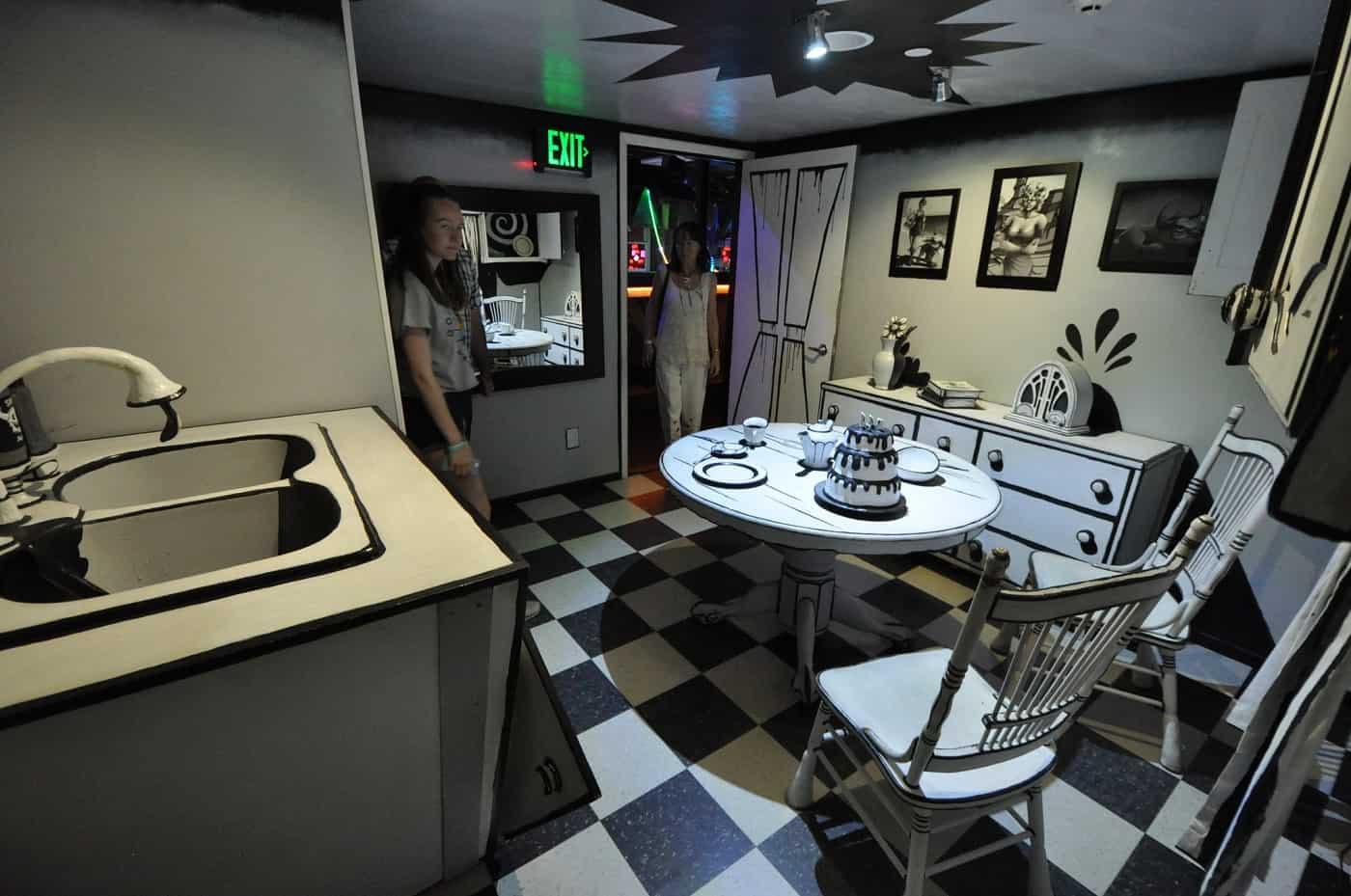 Kitchen in Meow Wolf exhibit - Art reimagined