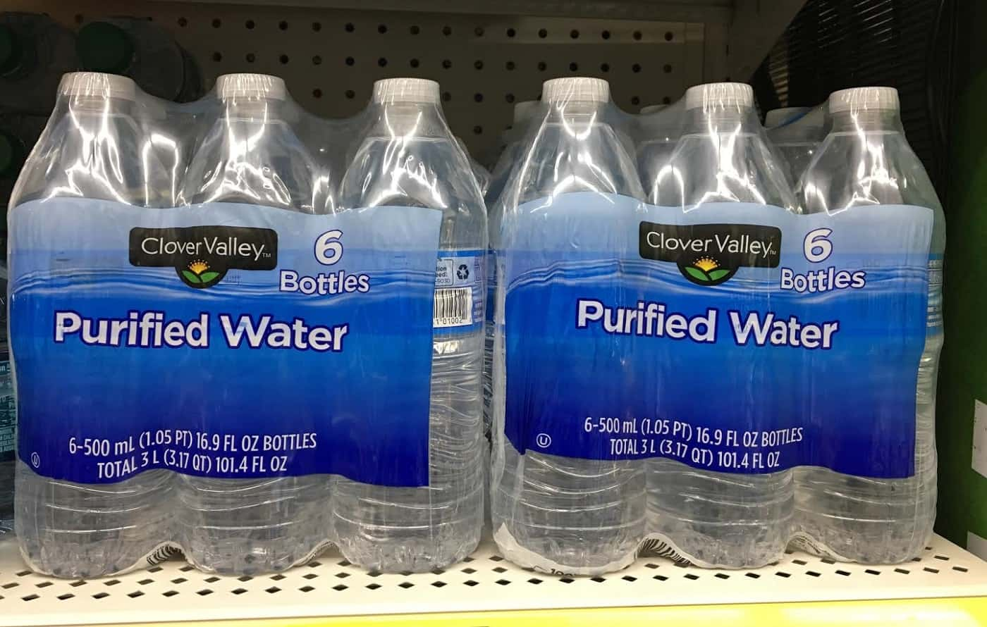 Purified water in packages - Real food vs. fake food