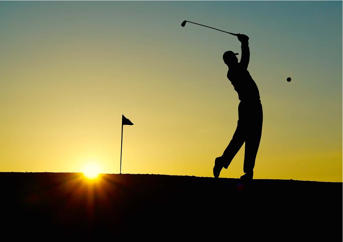 Silhouette of man golfing - Your fittest future self