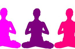Three meditating silhouettes - Meditation club