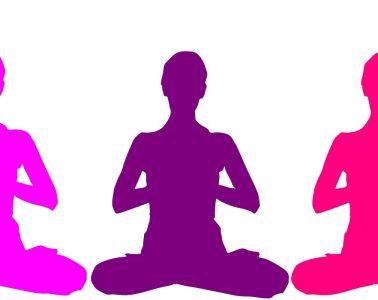 Three meditating silhouettes - Meditation club
