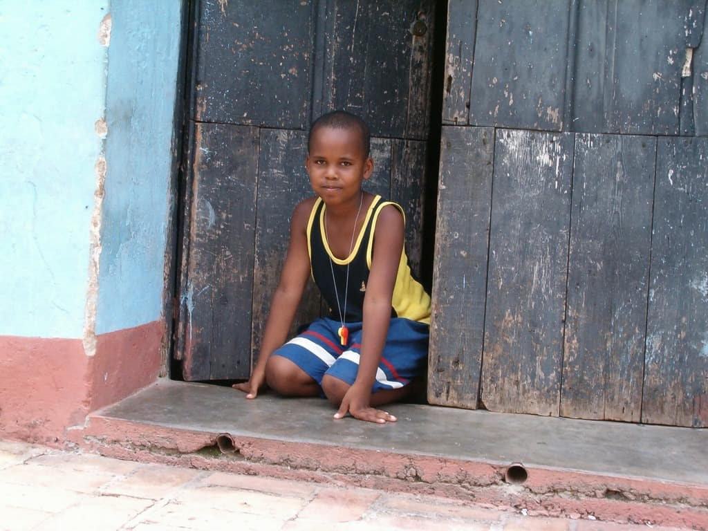 Small boy in doorway