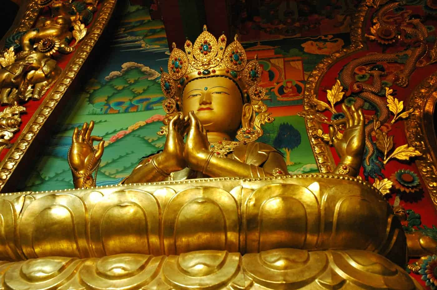 Statue of Chenrezig, Bodhisattva of Compassion