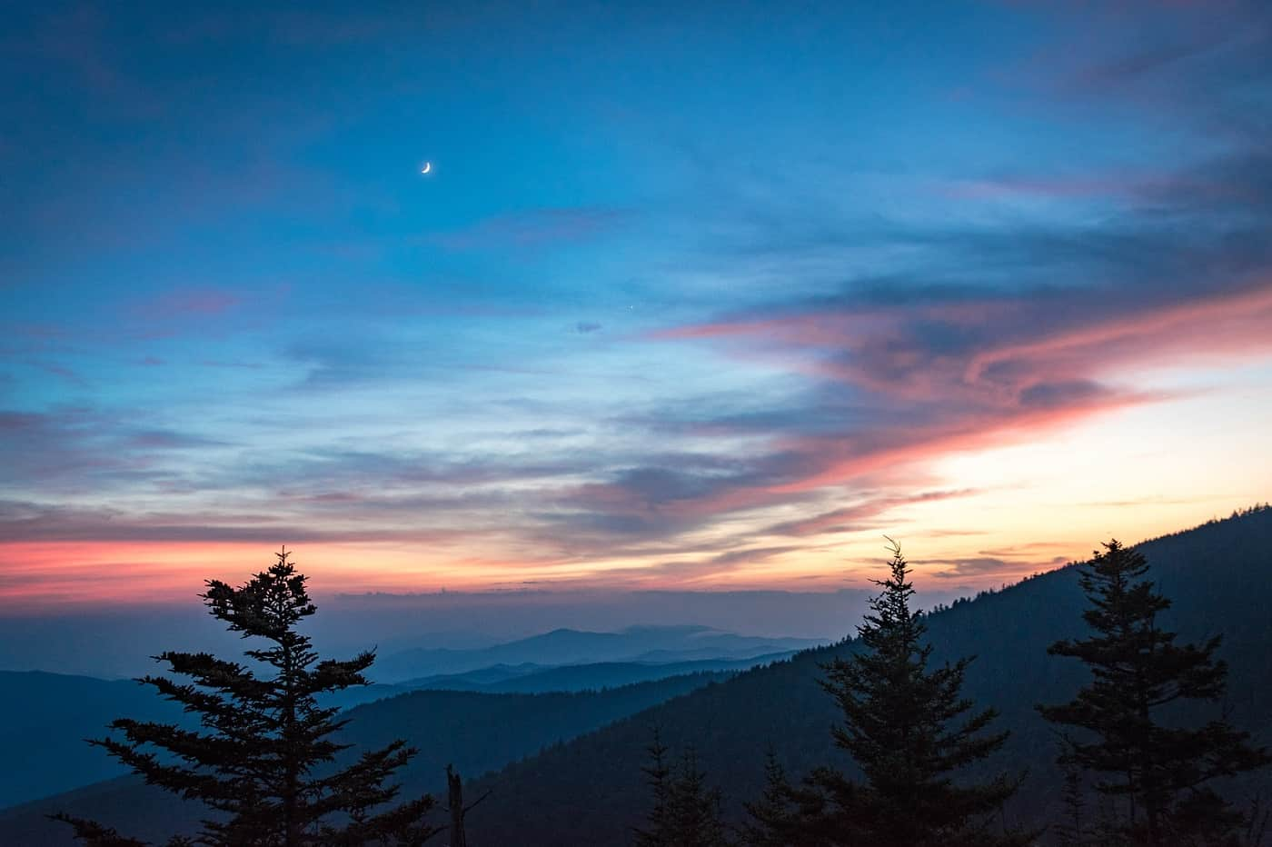 Sunset at the Great Smoky Mountains National Park