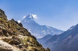 Himalayan mountains in Nepal
