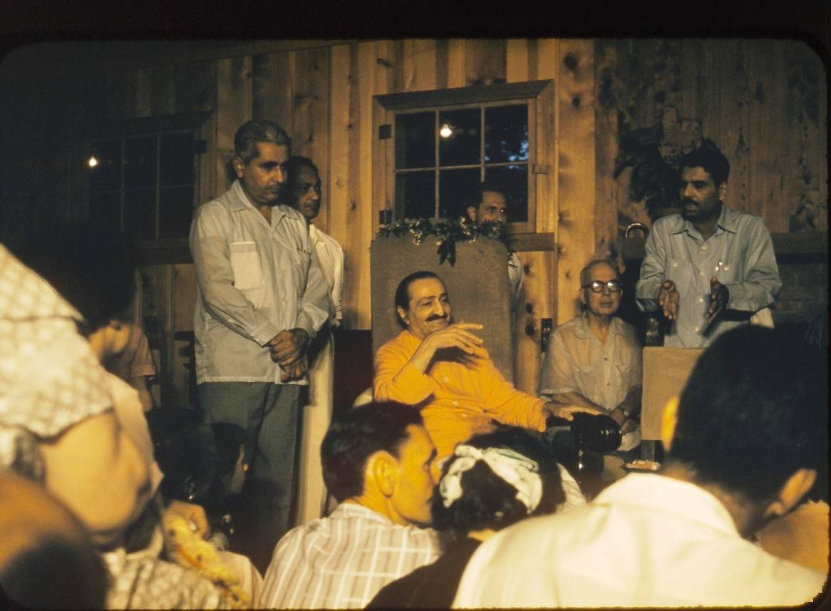 Meher Baba during 1950s visit to Western world