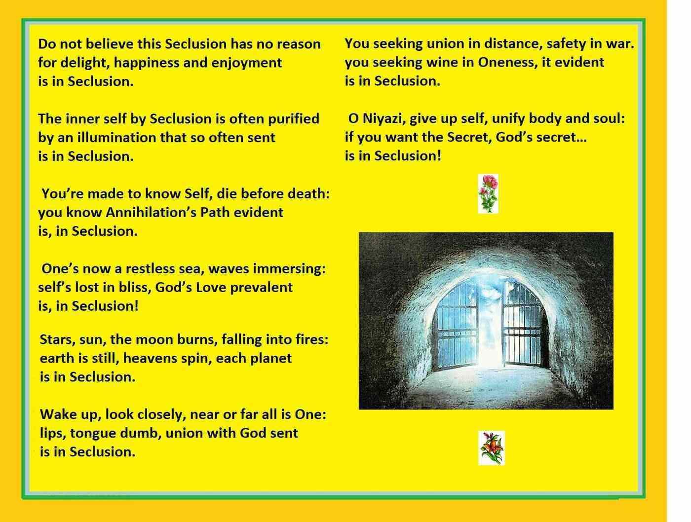 Poem about seclusion by Mizra Niyami